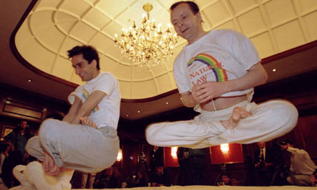 The Natural Law party believes that yogic flying is the key to a happy, problem-free nation